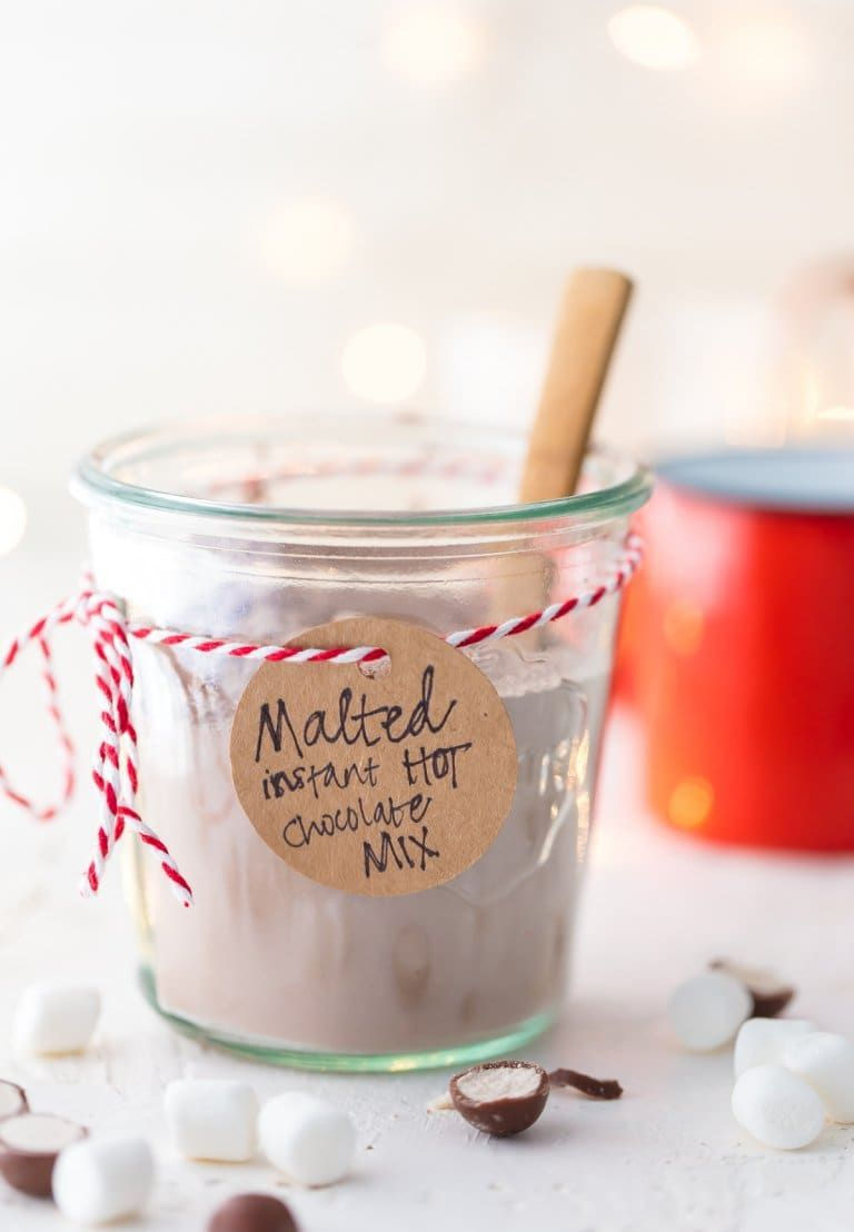 Malted Homemade Hot Chocolate Mix #hotchocolaterecipe
