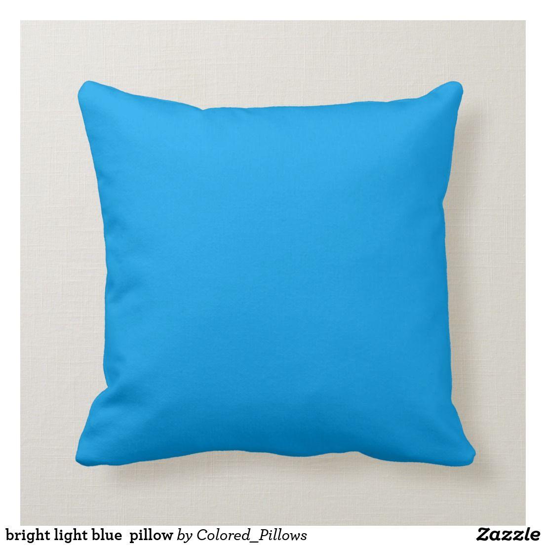 Pleasing Bright Light Blue Pillow Zazzle Com Blue Decorative Uwap Interior Chair Design Uwaporg