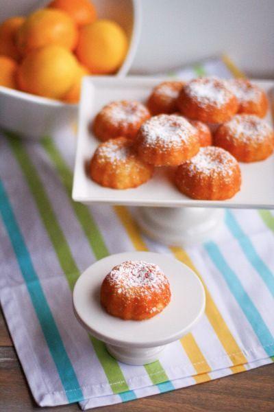 {I made these} Mini Meyer Lemon Bundt Cakes