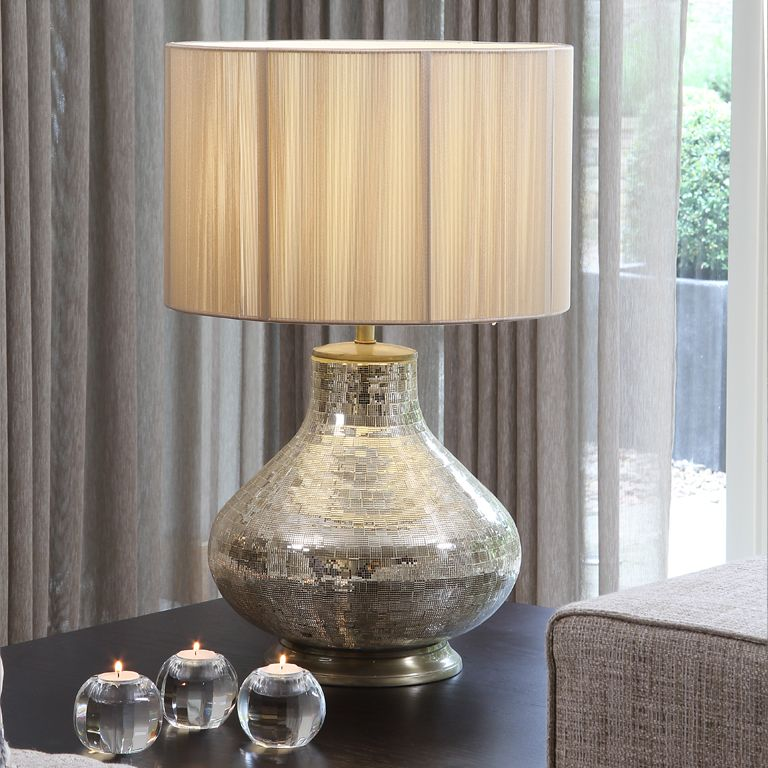 Great Champagne Mosaic Table Lamp Base (shade Sold Separately)
