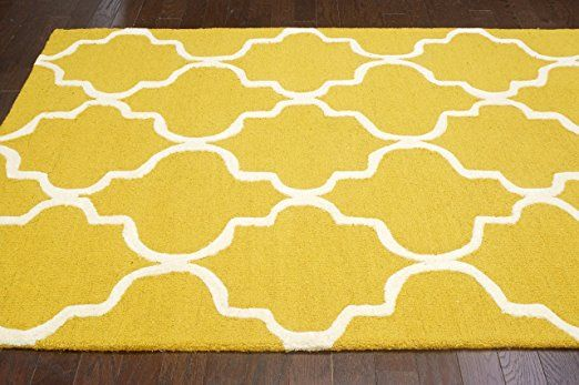 Nuloom Varanas Collection Holly Area Rug 7 Feet 6 Inch By 9 Feet 6 Inch Yellow Kitchen Dining Rugs Plush Area Rugs Area Rugs
