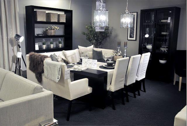 Sort/hvitt stue