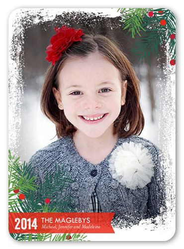 Snow Pine Frame 5x7 Stationery Card by Brejer Shutterfly Iconic