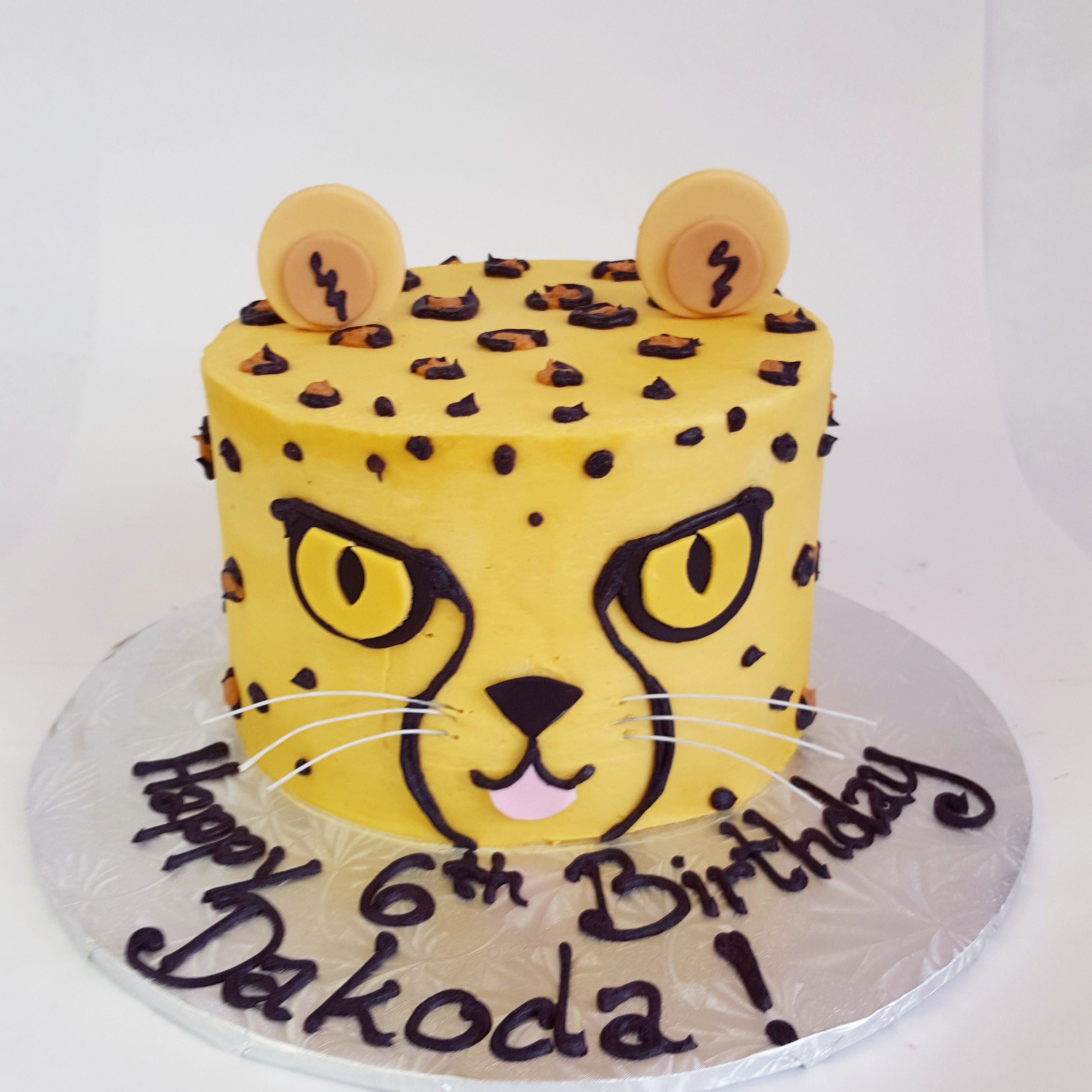 Tremendous Our Cheetah Cake Is Quickly Becoming One Of Our Favourites Personalised Birthday Cards Petedlily Jamesorg