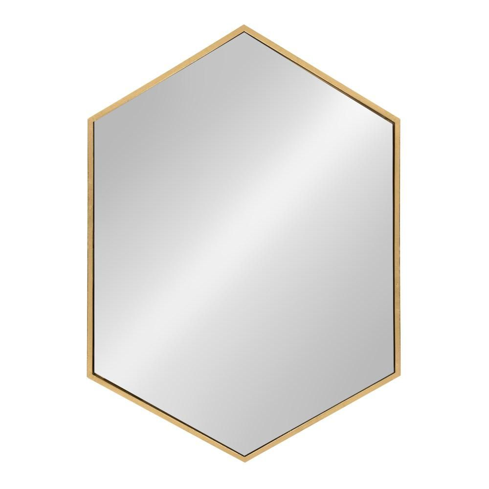 Kate And Laurel Mcneer Hexagon Gold Accent Mirror Contemporary