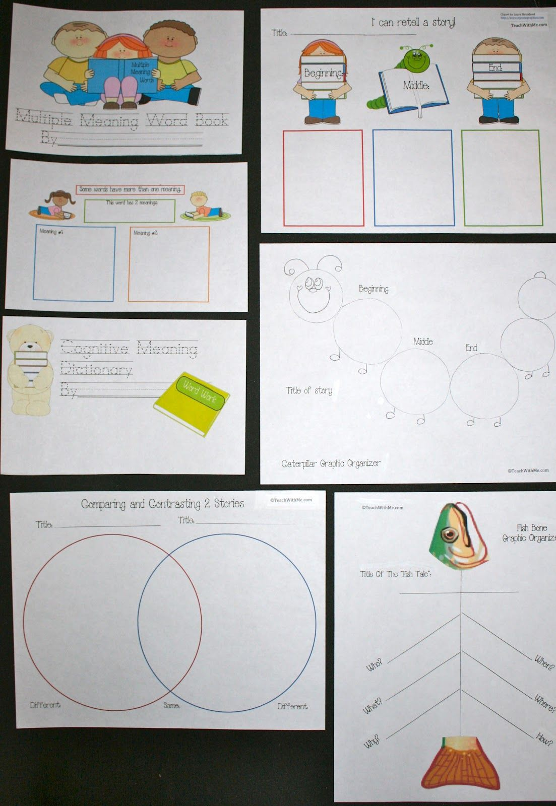 General Graphic Organizers Classroom Freebies