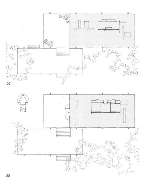 Casa farnsworth 1945 1950 mies van der rohe un icono de for Arquitectura moderna planos