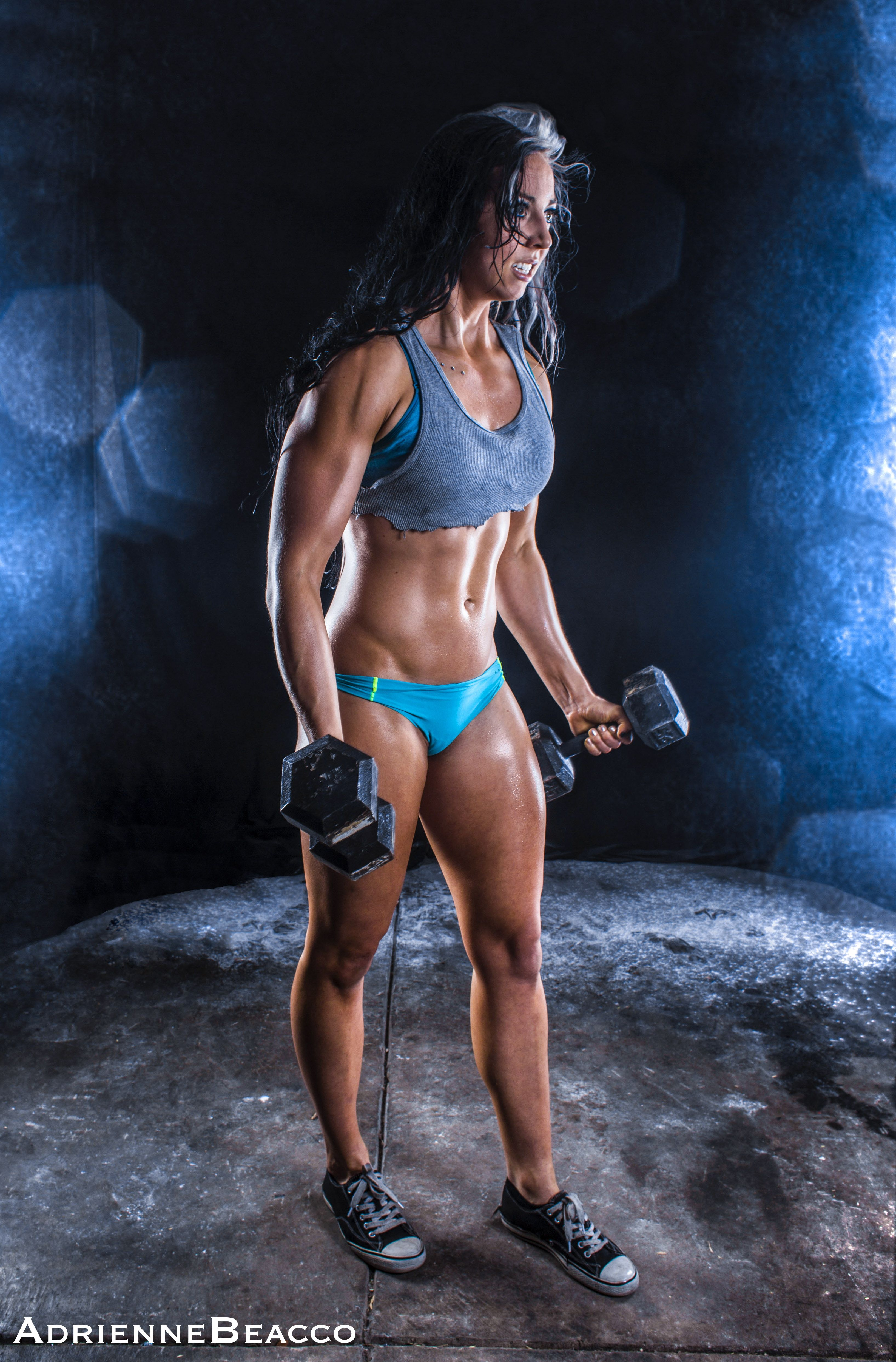 Adrienne Beacco Photography , fitness photography , weights ... for Bodybuilding Photography Lighting  45ifm