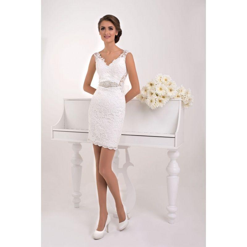 53c0f716fdf4 Masada - rafinované asymetrické svadobné šaty s krajkou