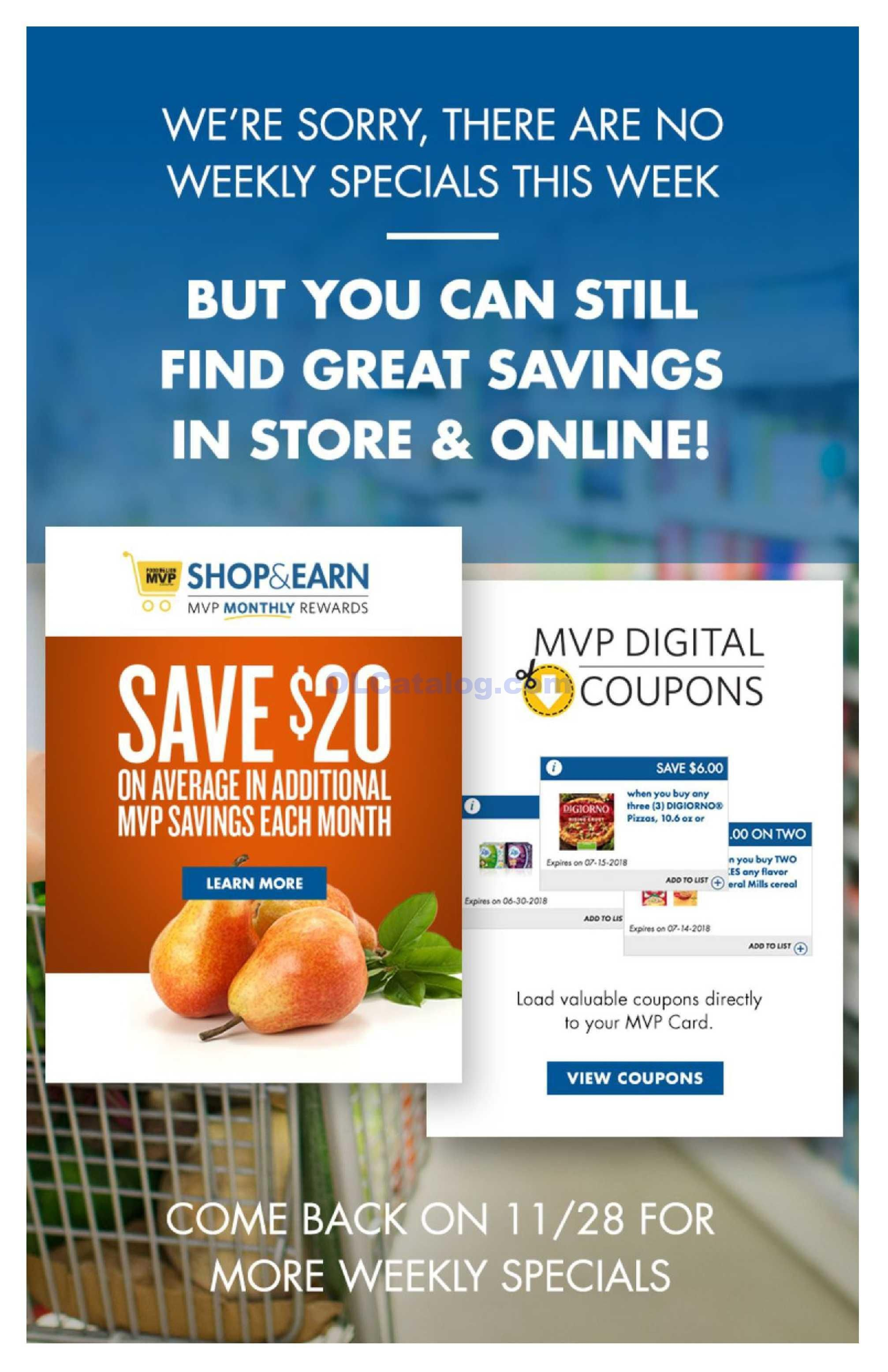 Food lion weekly ad come back 1128 do you know whats in