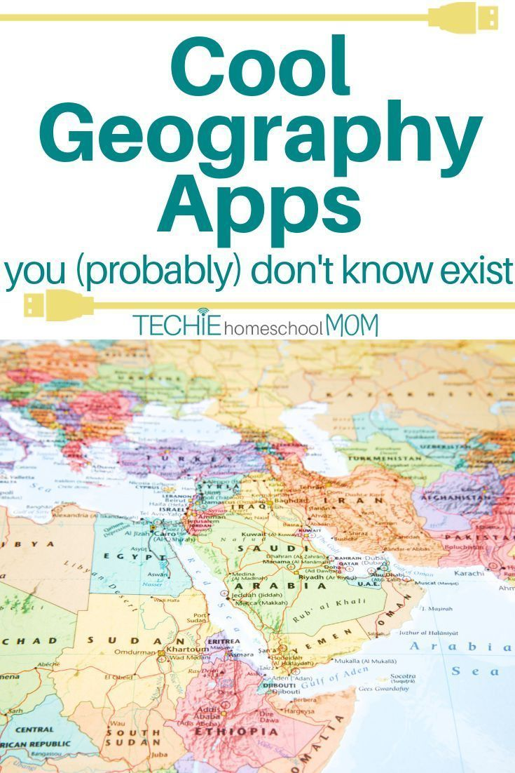 Start techin' your homeschool geography with these cool apps. Your kids will think they're playing when in fact they'll be learning! #homeschool #homeschooling #geography #educational #apps #technology #tech