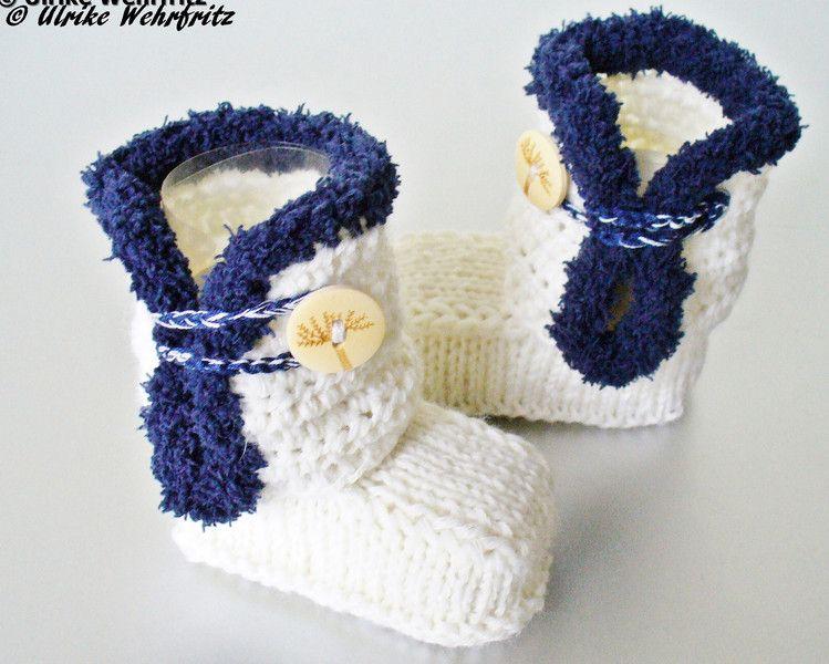Babyschuhe Babystiefel  von strickliene auf DaWanda.com