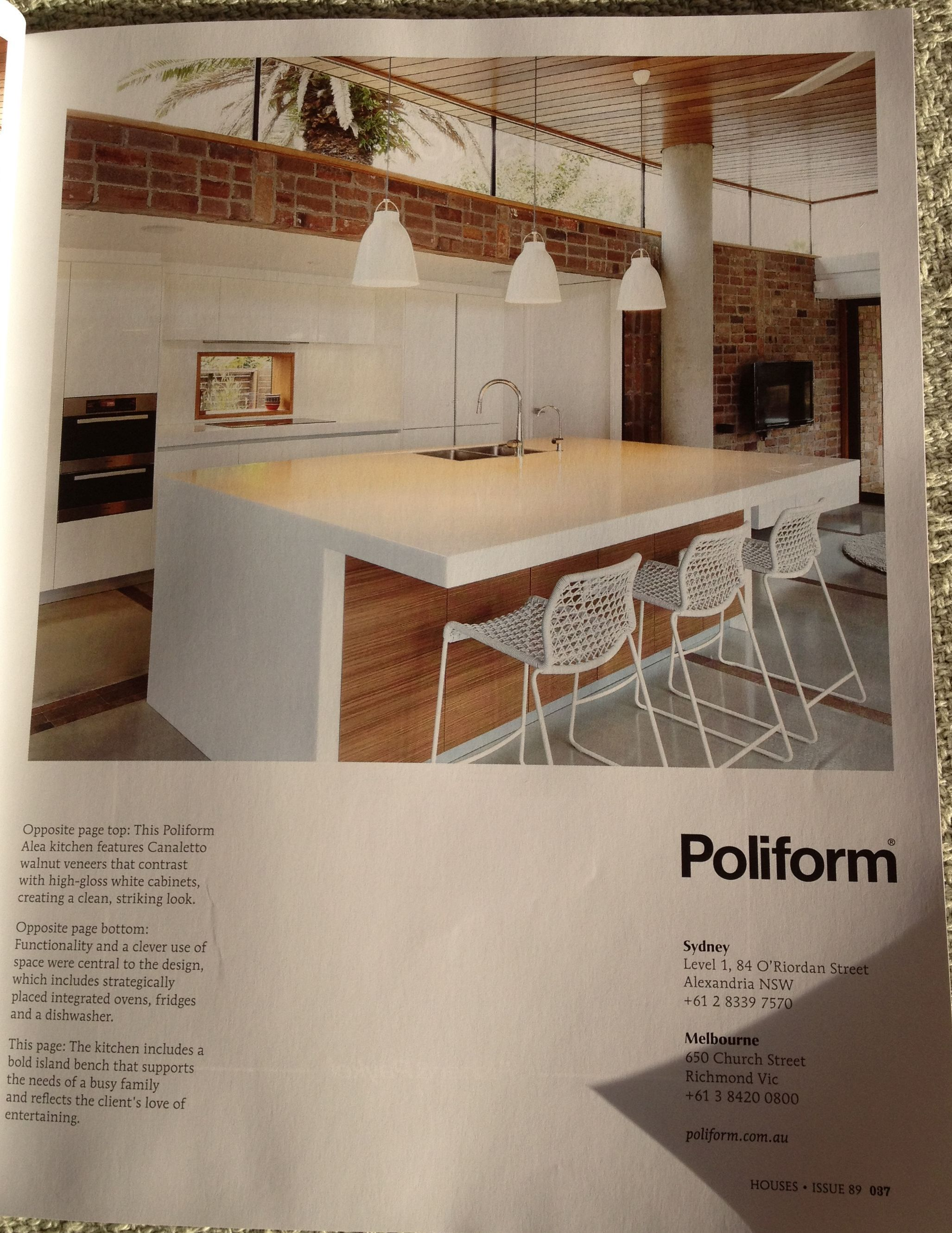 Poliform Kitchen Not At All Keen On Sink Placed In Island