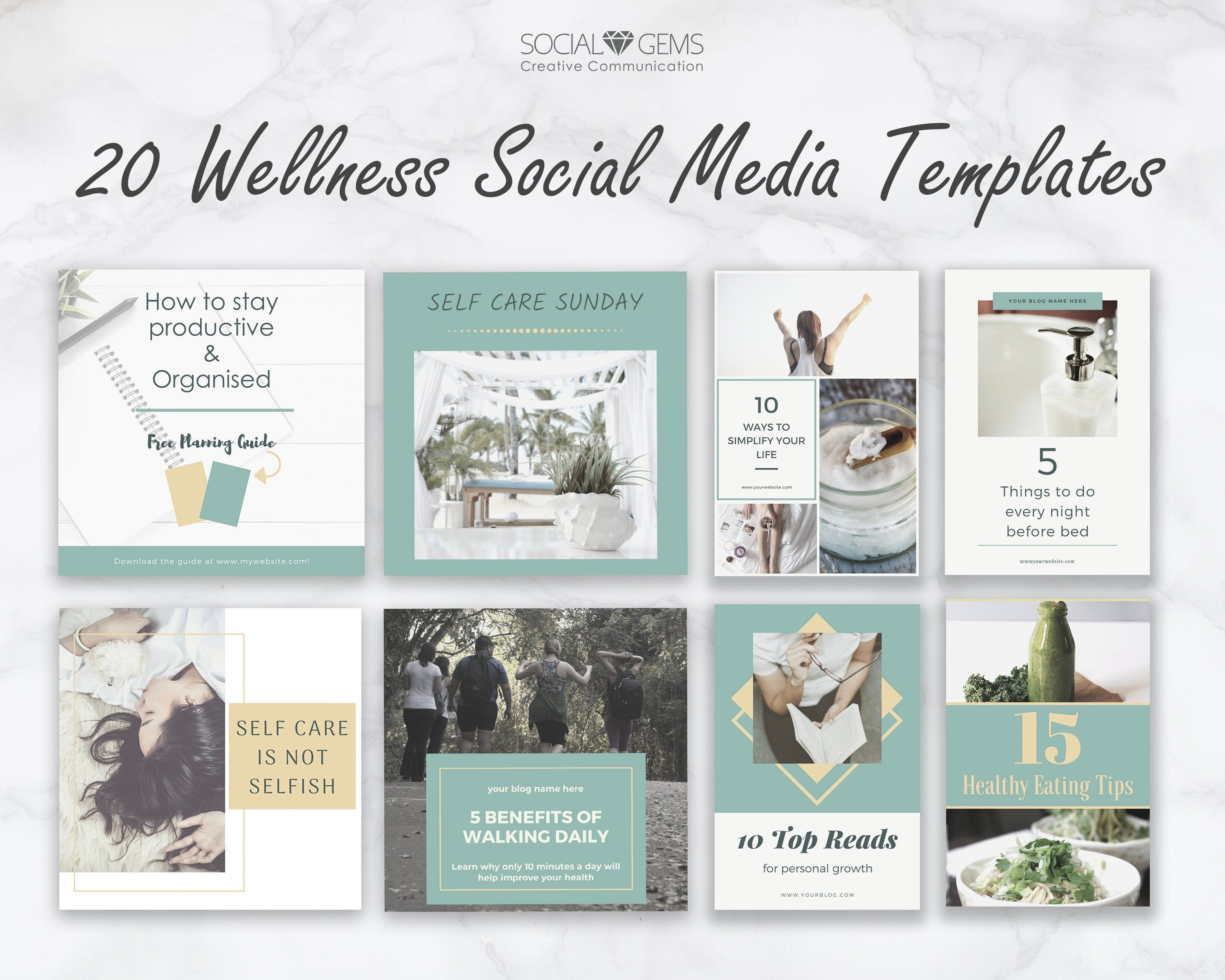 Social Media Posts For Lifestyle Bloggers Canva Template Facebook Posts Pinterest Templates Instagram Template Graphics For Blogs In 2020 Blog Graphics Social Media Template Instagram Template