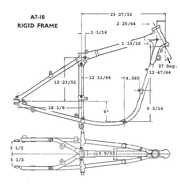 BSA Rigid Frame A7 A10 | Motorcycle engines and blueprints ...