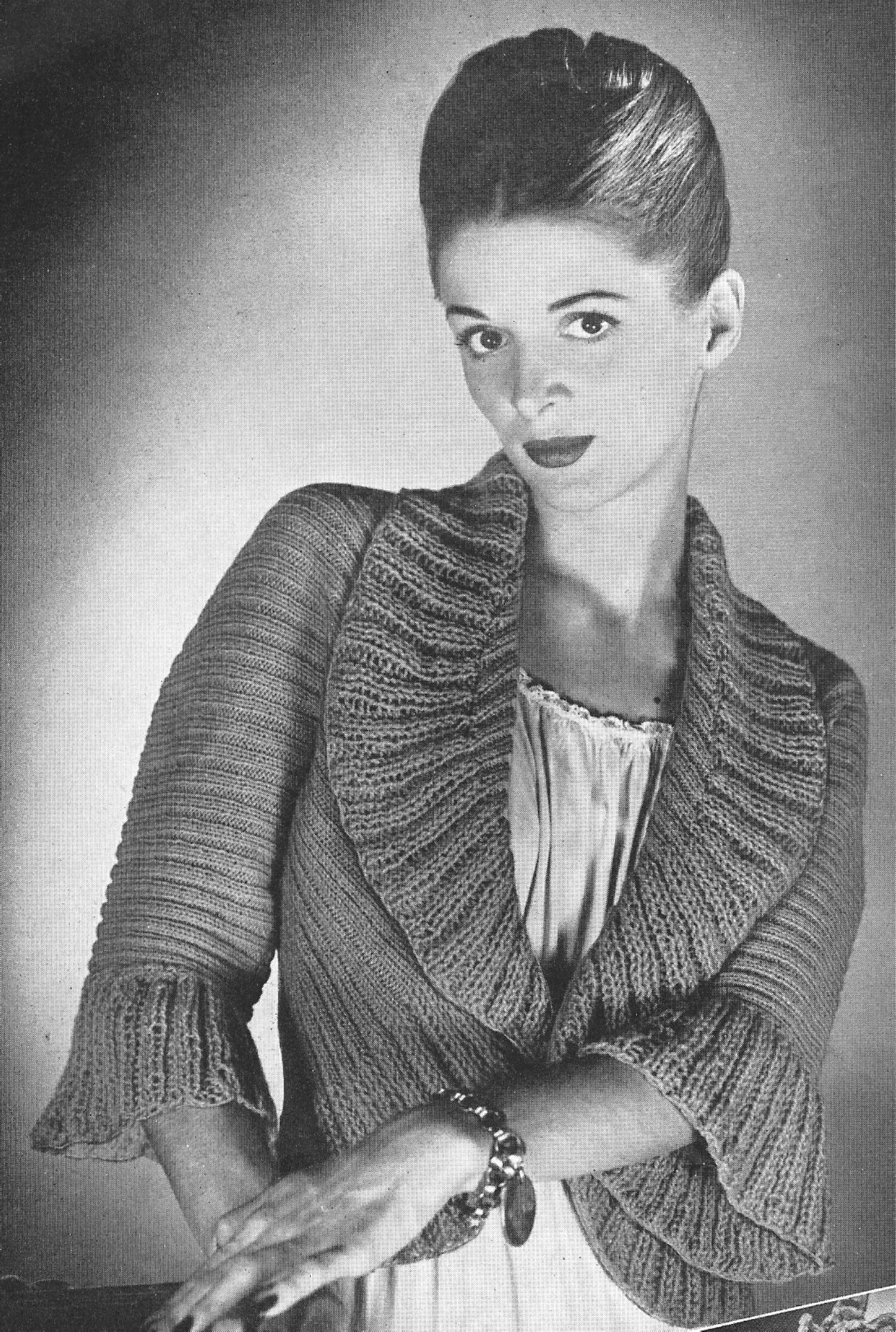Vintage antique bed jacket sweater knitting pattern hmmm kinda vintage knitting pattern to make knitted bed jacket sweater shawl collar shrug not a finished item this is a pattern andor instructions to make the bankloansurffo Choice Image