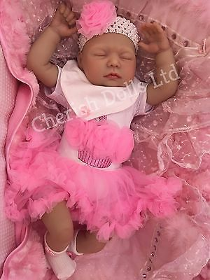 Real Life 22inch Reborn Baby Girl Doll Newborn Size Silicone Fake Toddler