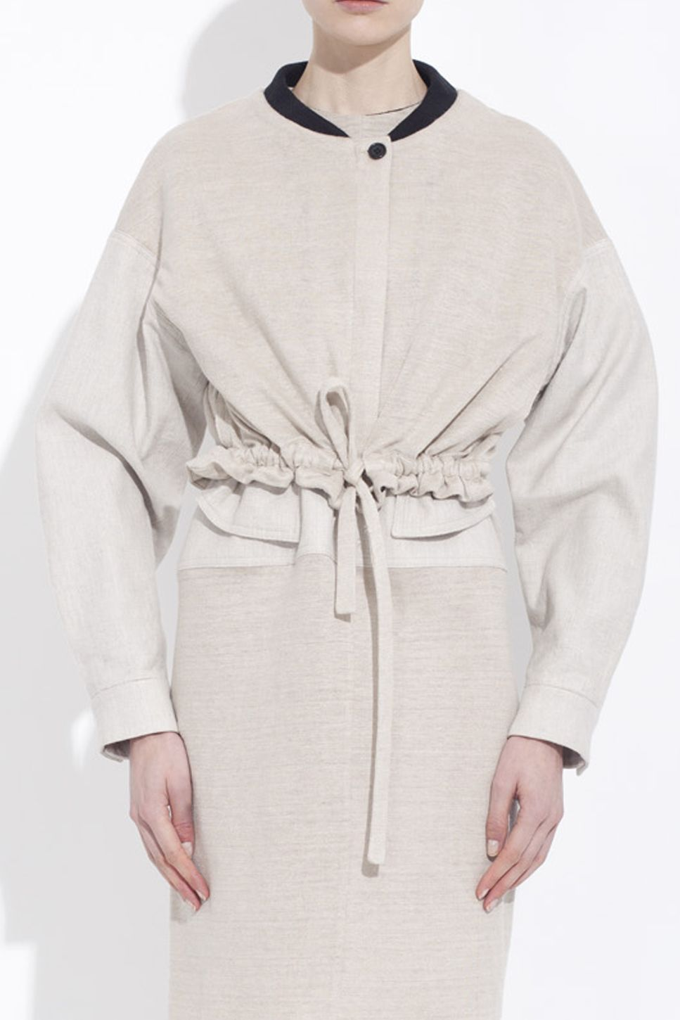 Sand Colored Organic Linen Jersey Bomber Jacket Collection Bruno Pieters Honest By Jersey Bomber Jacket Organic Linens Bomber Jacket