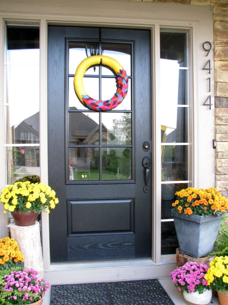 Exterior Door With 3 Gl Panels Doors Pinterest