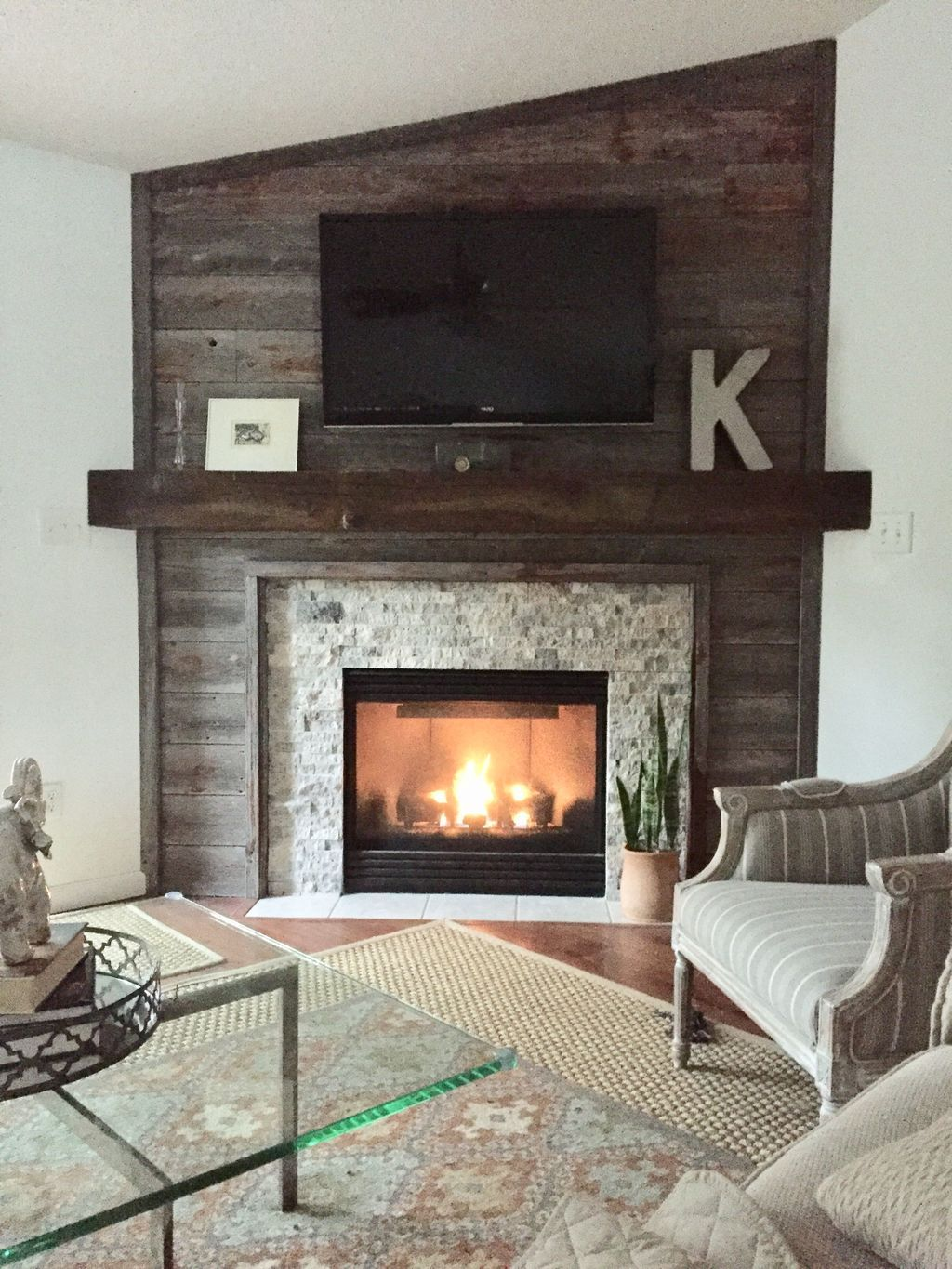 38 Ideas For Living Room: 38 Stunning Clad Cover Fireplace Ideas
