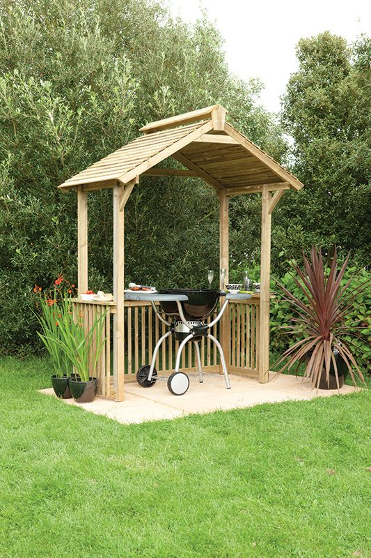 Forest Garden BBQ shelter Garden / BBQ shelter ideal for dining ...