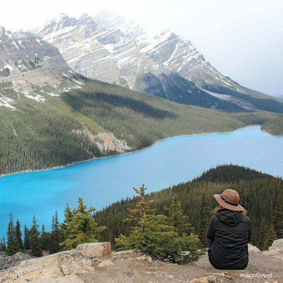 Lake Peyto, Alberta, Canada - Map of Joy travel world park mountain lake