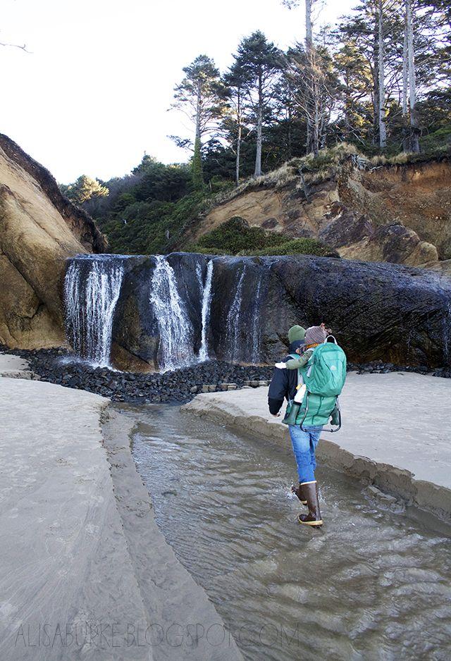 Hug Point State Park Near Cannon Beach Oregon