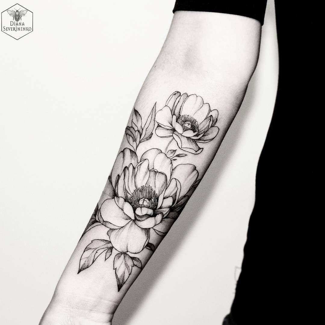 Flowers Blacktattoomag Blacktattooart Blxckink Blackworkers