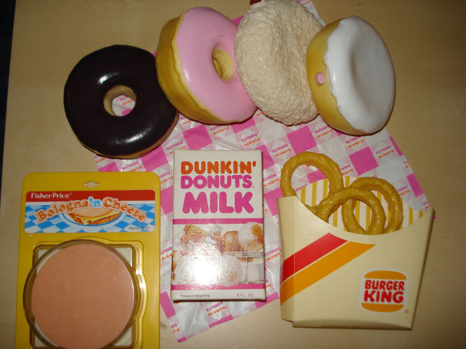 Image Detail For Vintage Play Food Toys Fisher Price Dunkin Donuts Burger King
