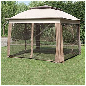 sale retailer fe774 6f900 Wilson & Fisher® 11' x 11' Pop Up Canopy with Netting | Big ...