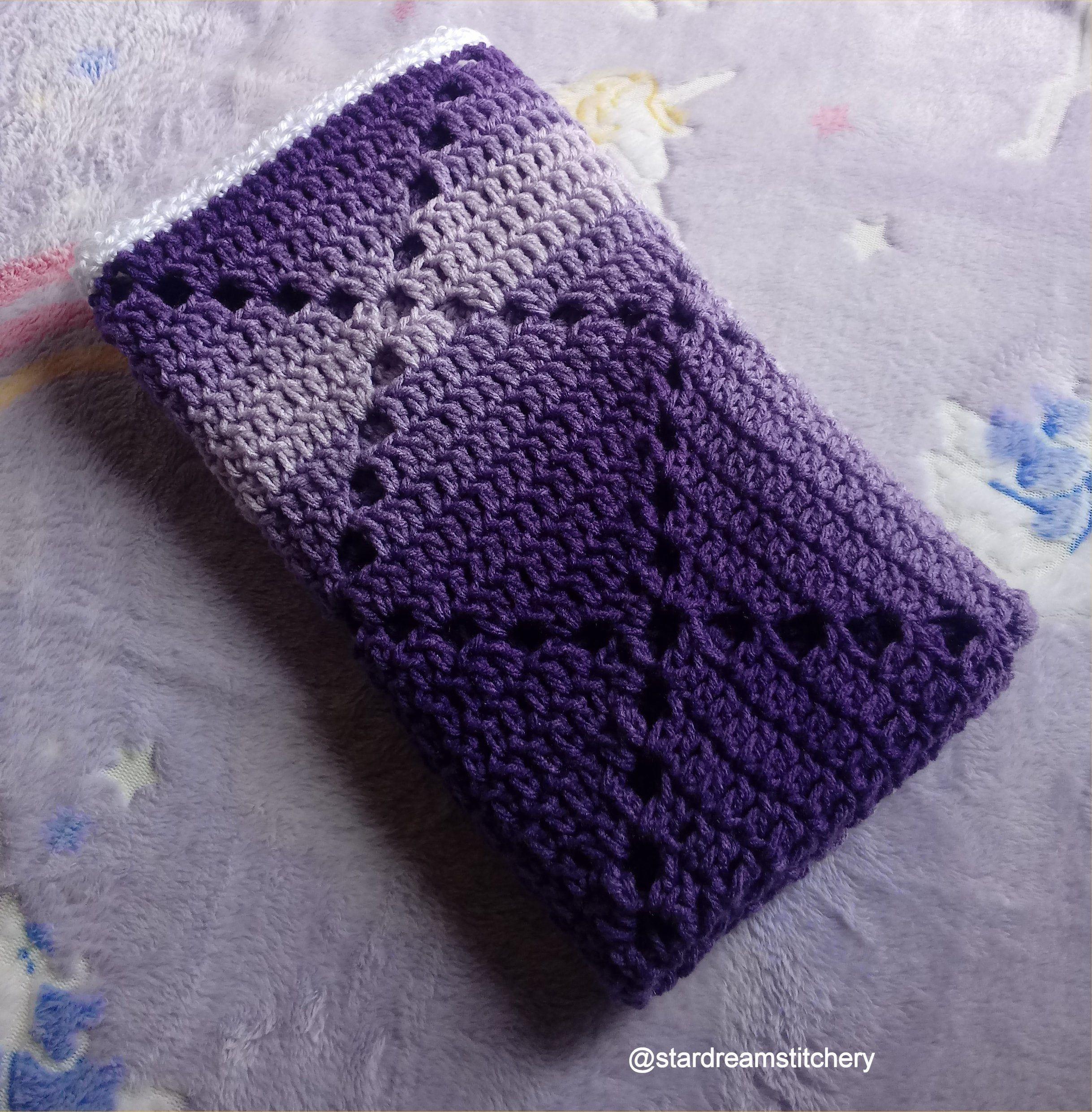 Hand crochet baby blanket Violet