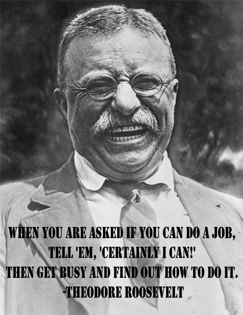 THEODORE ROOSEVELT JOB QUOTE GLOSSY POSTER PICTURE PHOTO teddy president us 2019  | eBay
