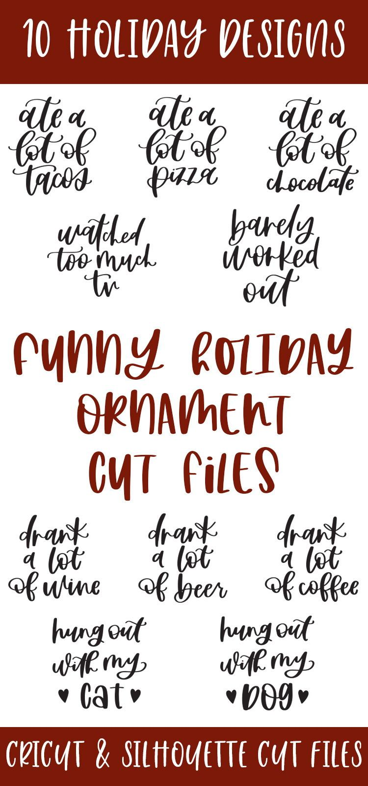 Funny Holiday Ornament SVG Bundle in 2020 Christmas