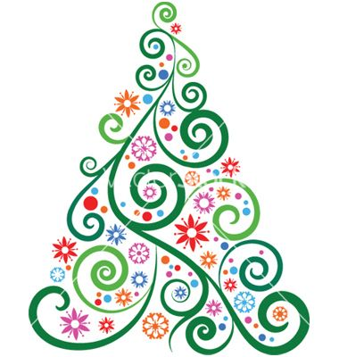 swirly christmas tree adjust colors could be black background rh pinterest com free christmas vector art illustrator free christmas vector art images