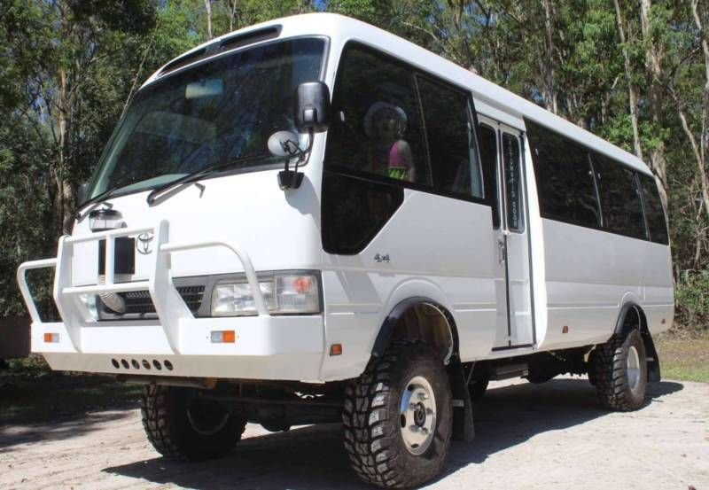 2003 toyota coaster lwb with 2016 4x4 conversion fitted