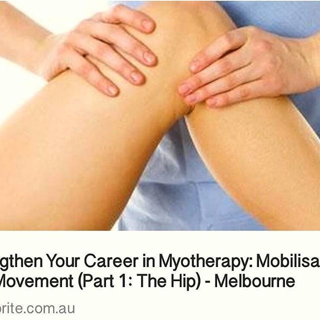 Great practical professional development event held by Envedeavour College tonight. Strengthen your career in Myotherapy: Mobilisation with Movement (Part 1: The Hip) - Melbourne. Always handy to have more skills to add to treatment and clinical practice. Also great to see the change of name for their course to Bachelor of Health Science (Myotherapy). #professionaldevelopment #myotherapy #career #hip #mobilisation #northcote