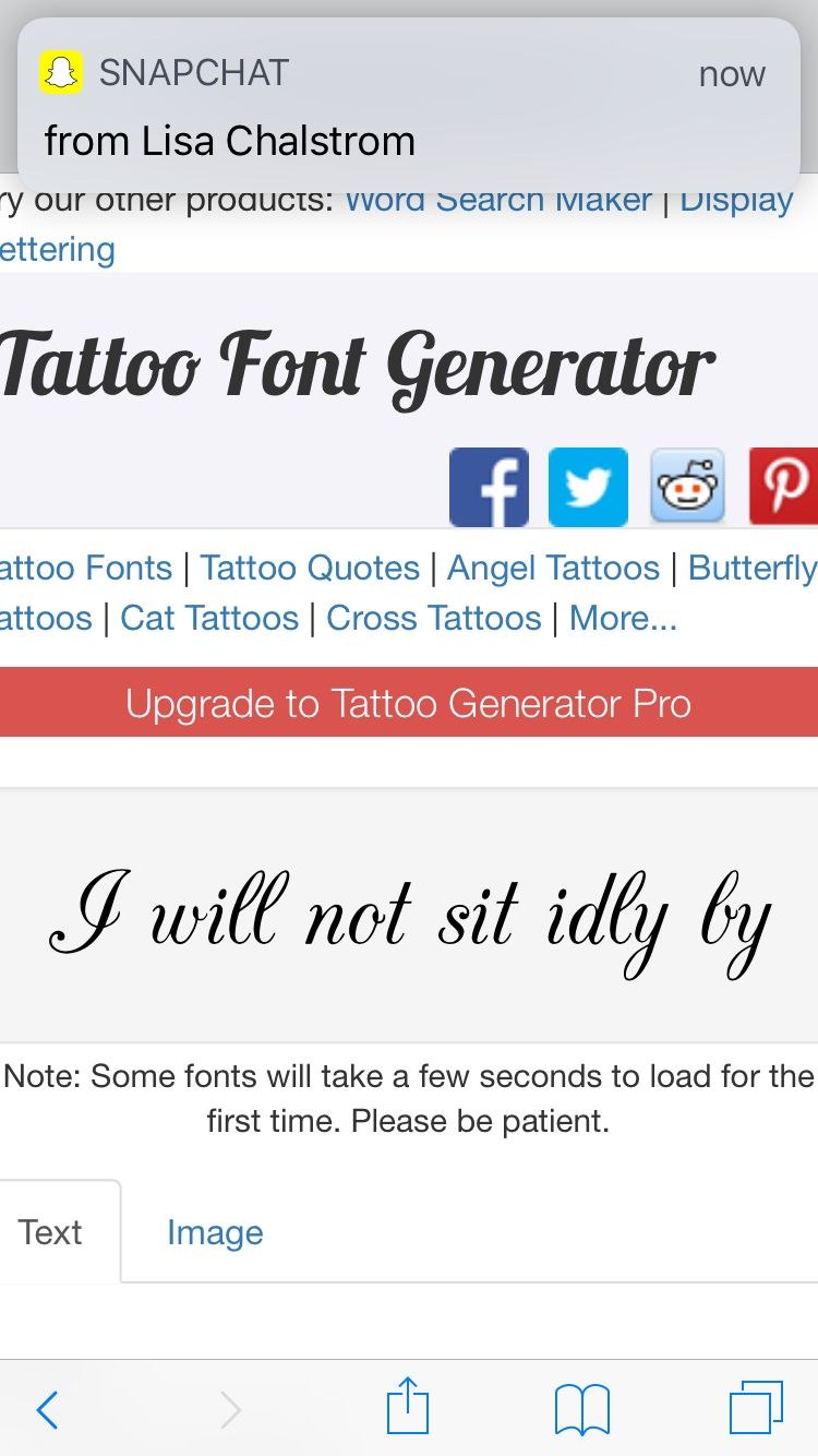 Typewriter Font Tattoo Generator Www Miifotos Com