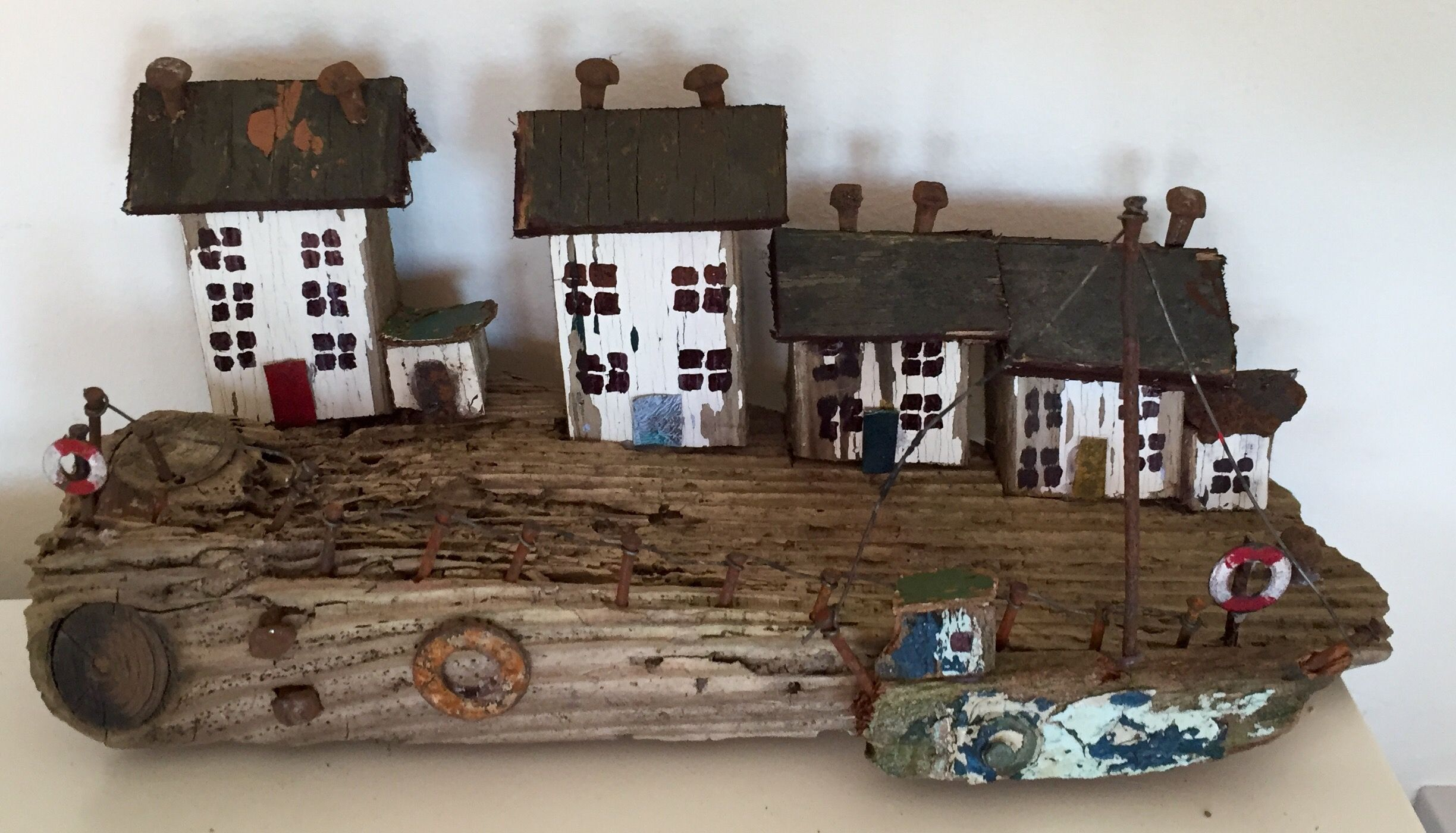 wooden houses folk popular sam on miniatures homes driftwood log pin cottages pinterest wood murray miniature cottage art s by