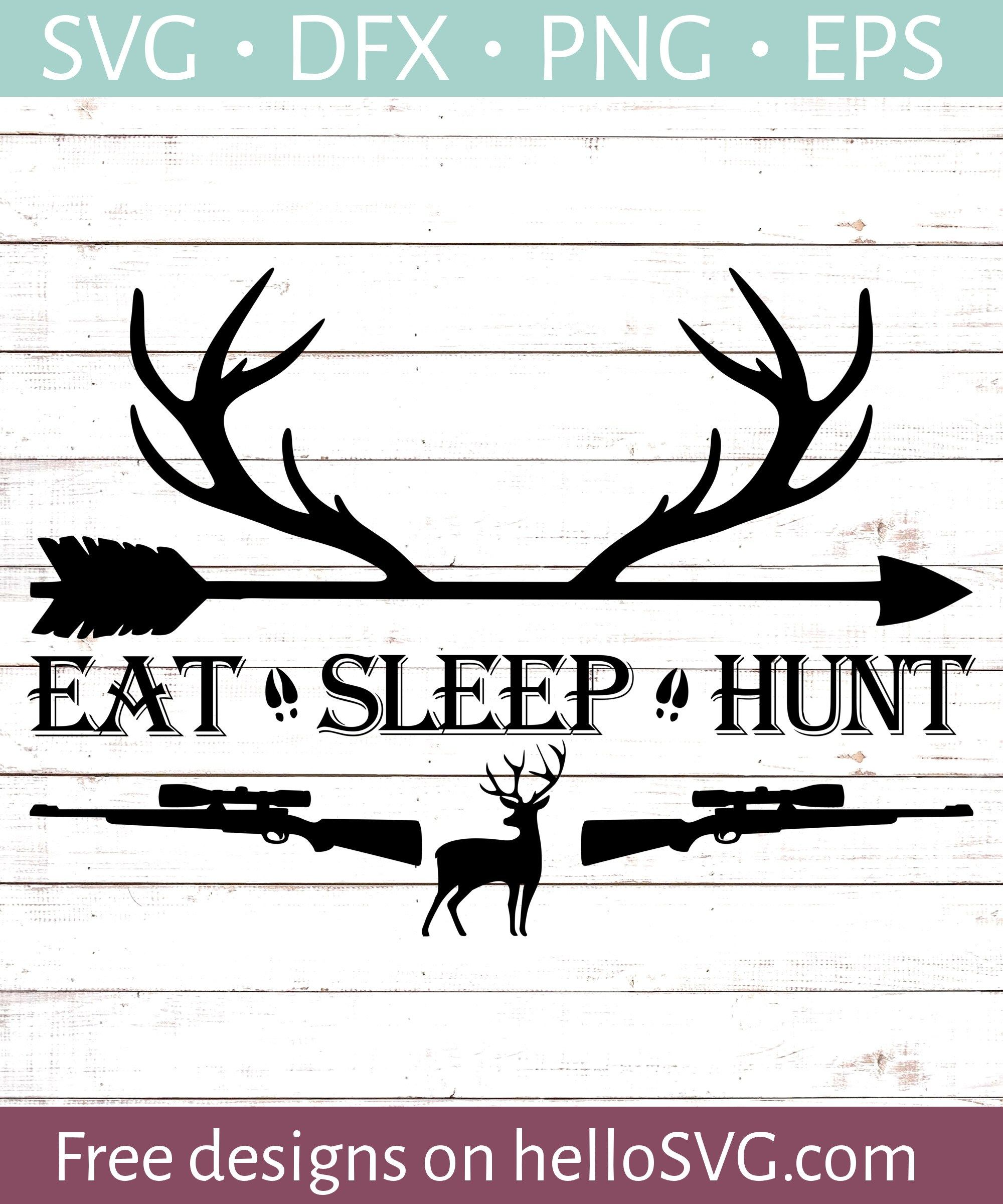 Eat Sleep Hunt 1 Cricut svg files free, Svg free files
