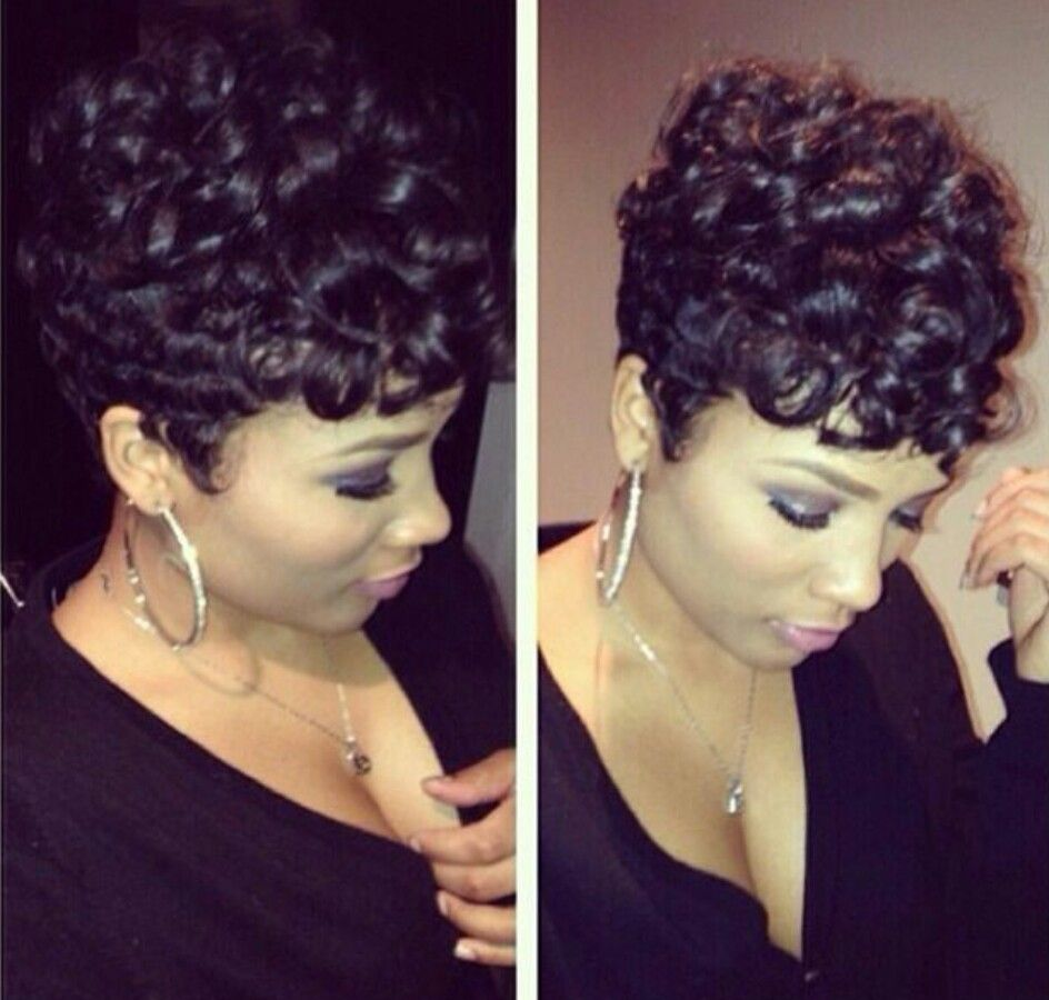 Curly pincurls hair wig pinterest curly short hair and hair style