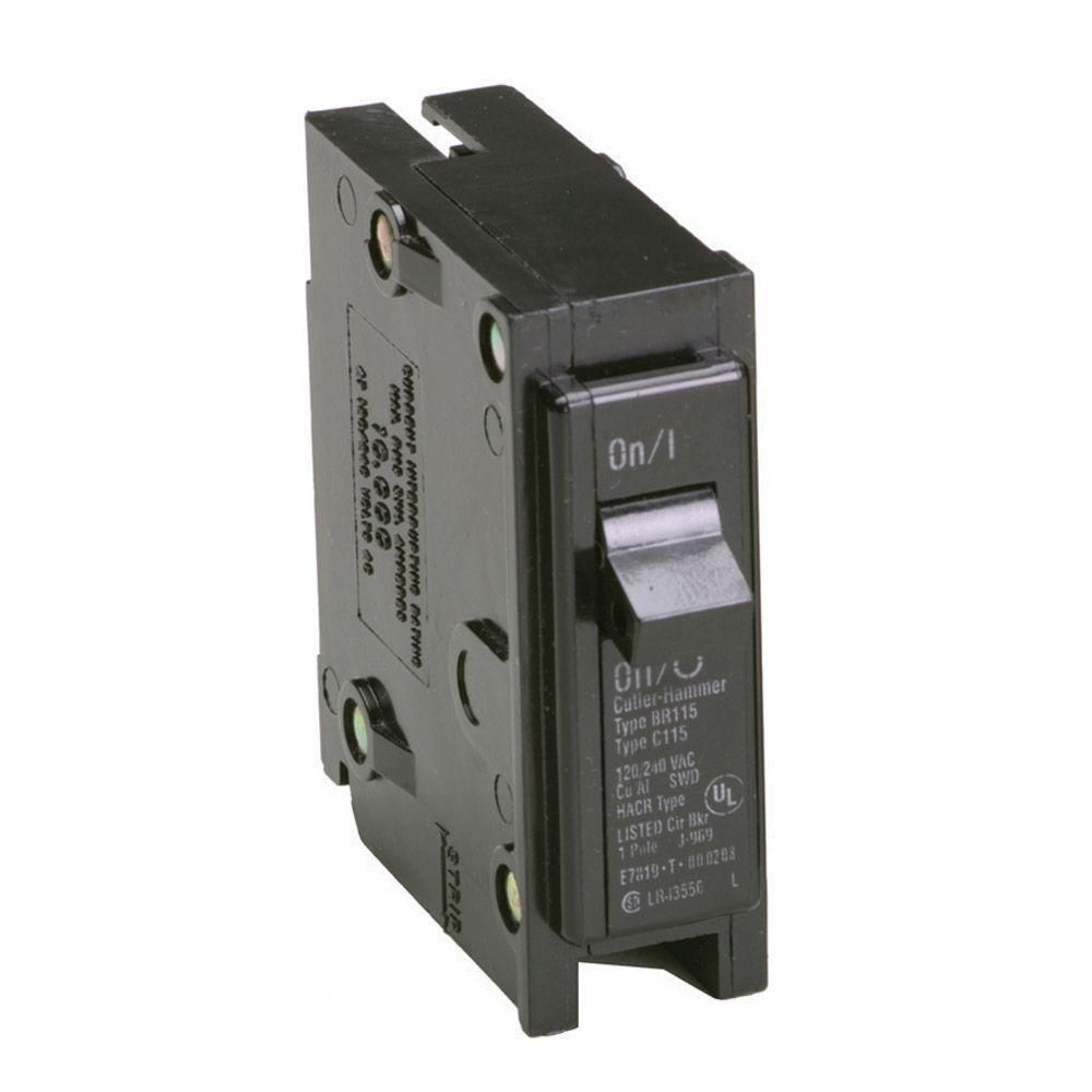 Eaton Br 20 Amp Single Pole Circuit Breaker Br120 The Home Depot Circuit Breakers House Wiring