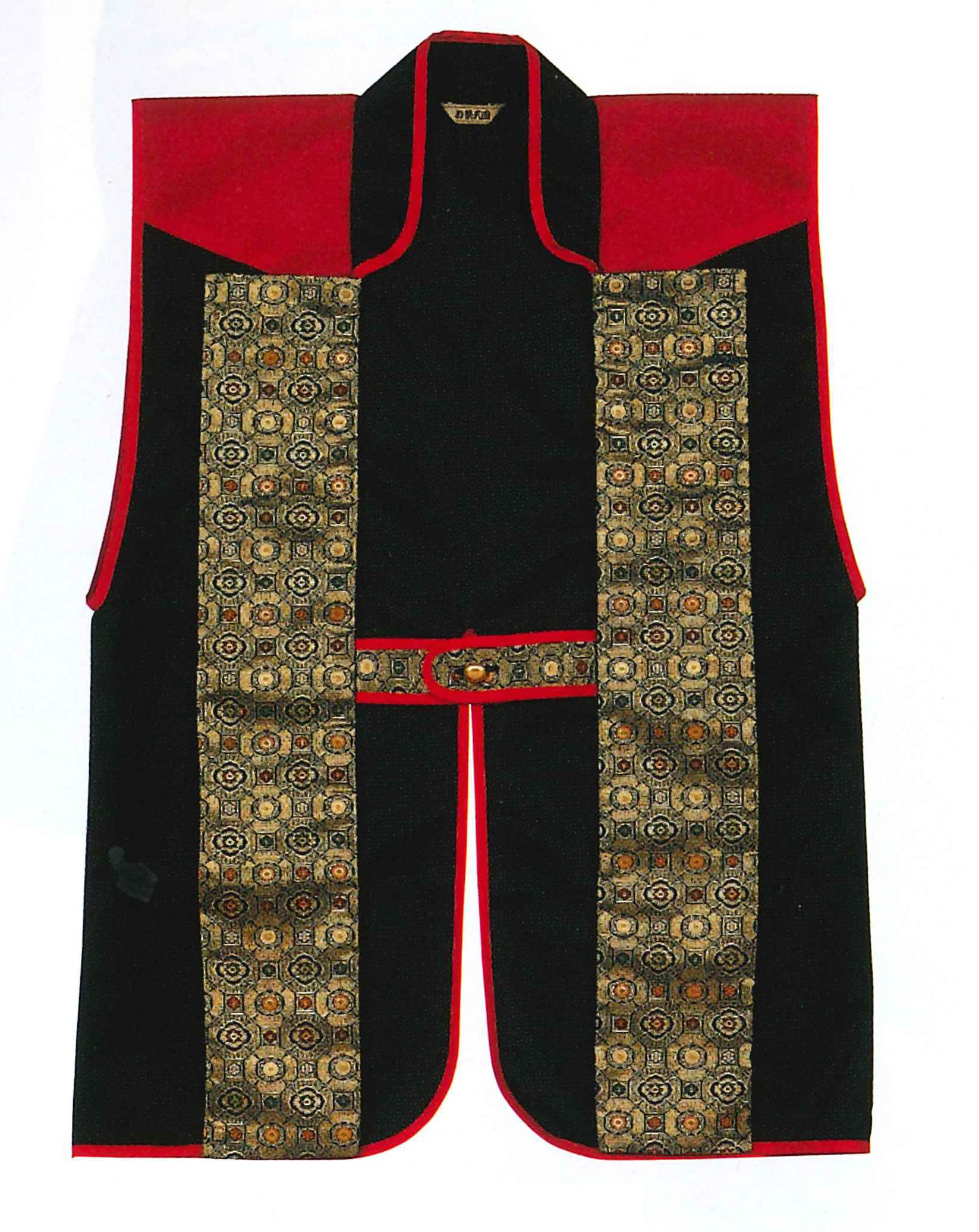 Red and Black TWO TONE Jinbaori (without liner), surcoat