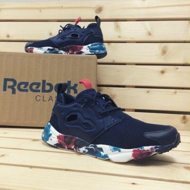 Reebok Furylite: IndigoInk Blot | Reebok insta pump, Shoes