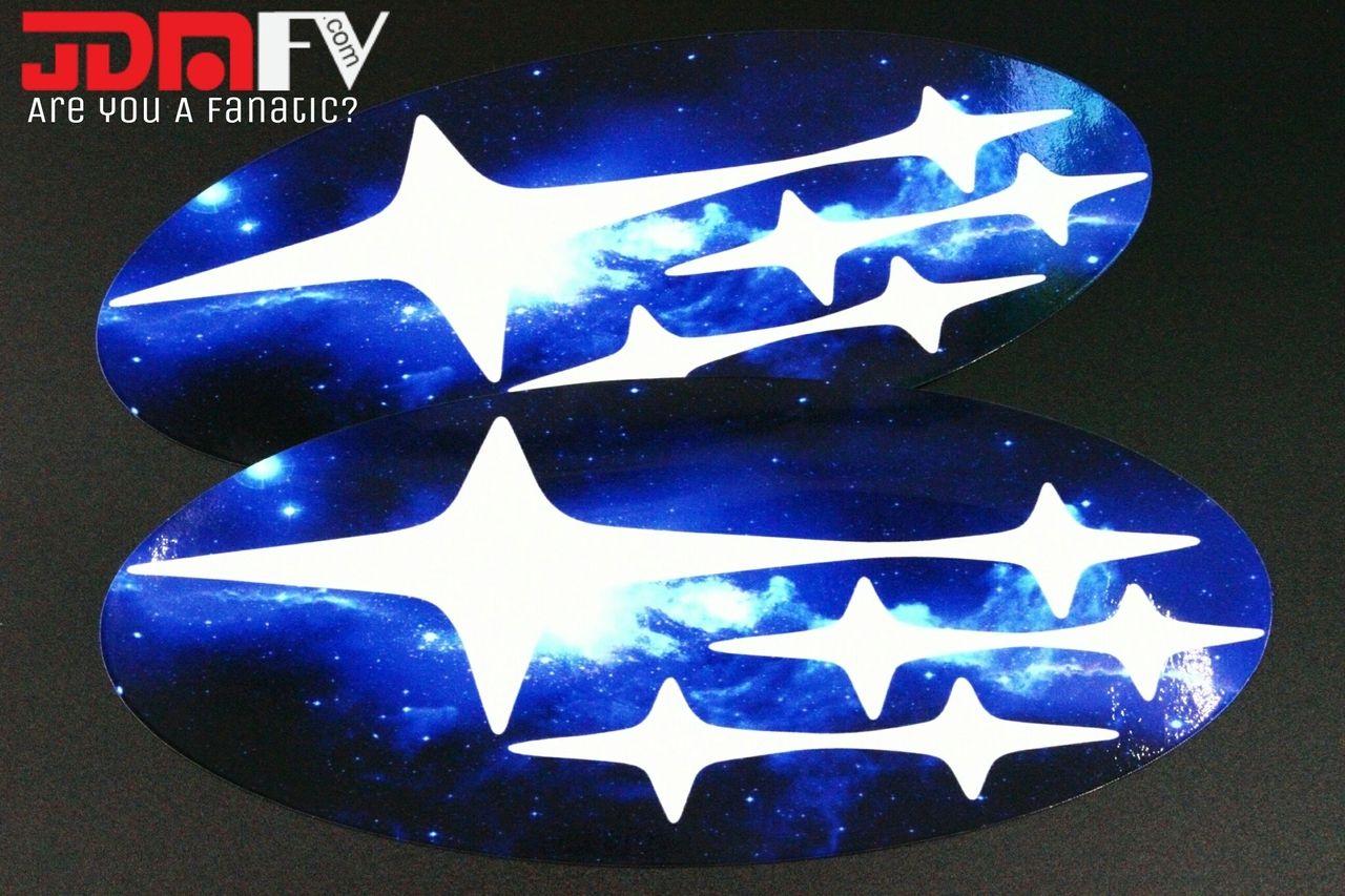 blue galaxy precut emblem overlays front rear 13 16 crosstrek xv carbon fiber wrap wrx subaru crosstrek xv carbon fiber wrap wrx