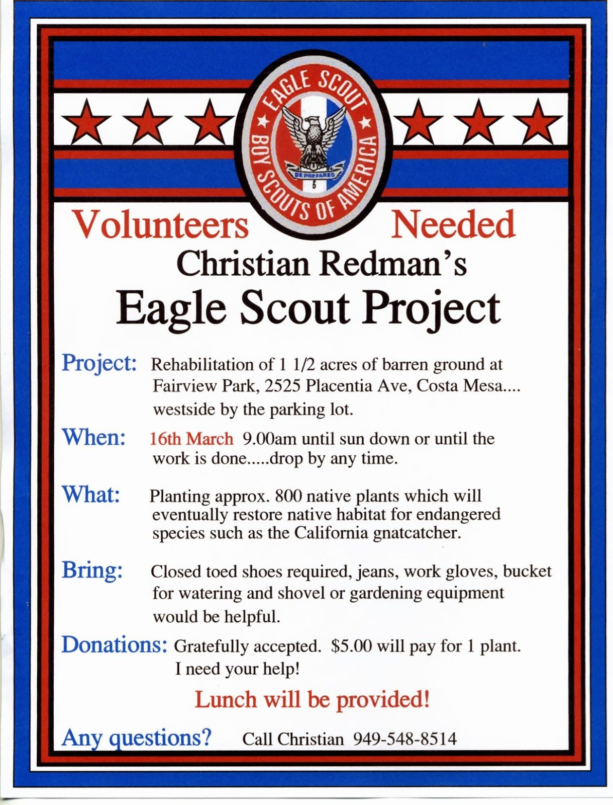 eagle scout projects Billiongraves brings people together by making genealogy records available to the public volunteers use smartphones to take gps-encoded pictures of.