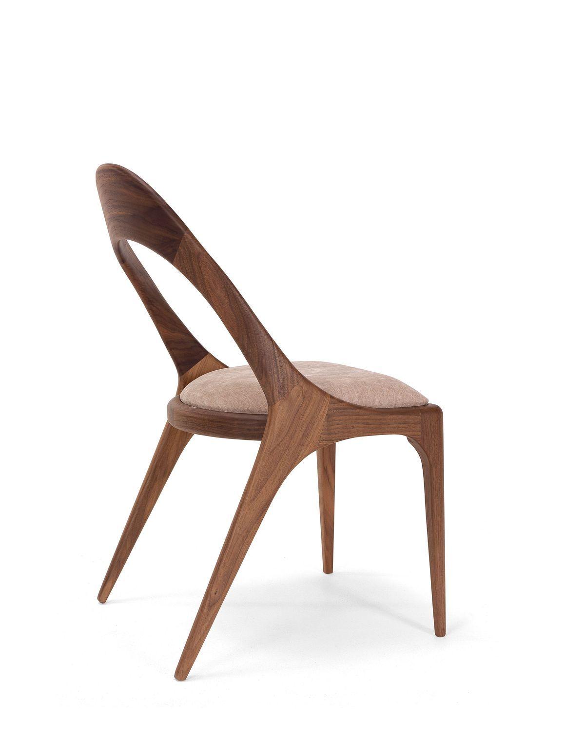 Silla sharon nogal americano sleek furniture pieces by paco camús sharon denise
