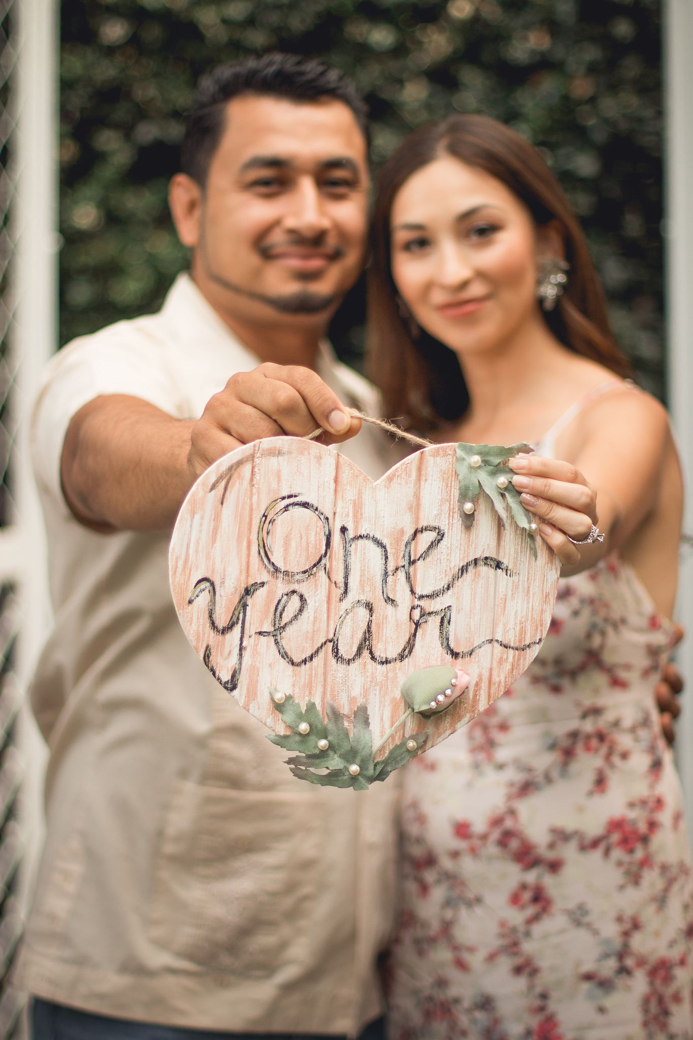One Year Wedding Anniversary Photo Shoot #cutesign # ...
