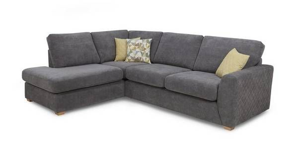 Astaire Right Hand Facing Arm Open End Corner Deluxe Sofa Bed Sherbet Dfs Corner Sofa L Shaped Sofa Bed Grey Corner Sofa