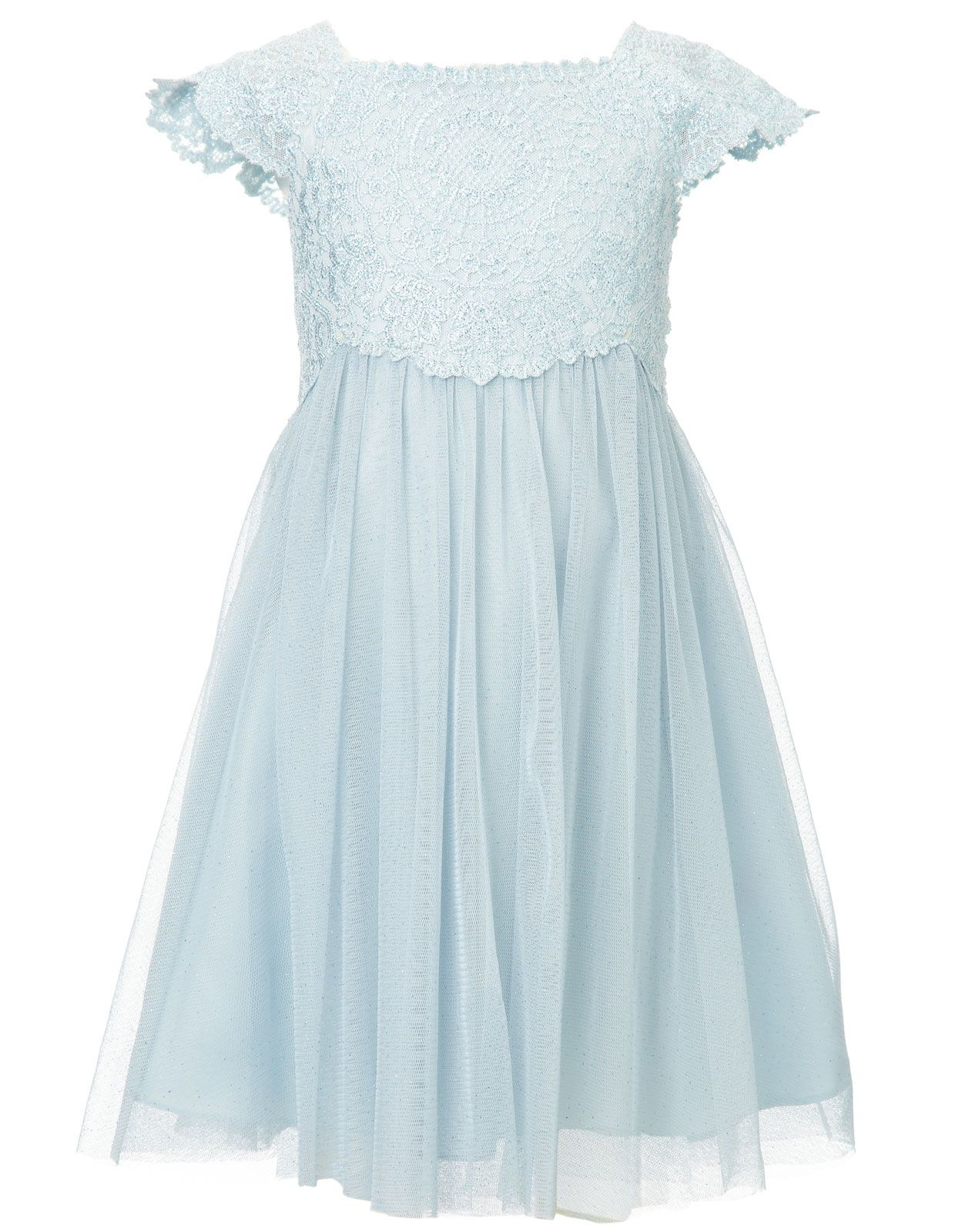 Baby Estella Glitter Dress Blue Monsoon Clothing