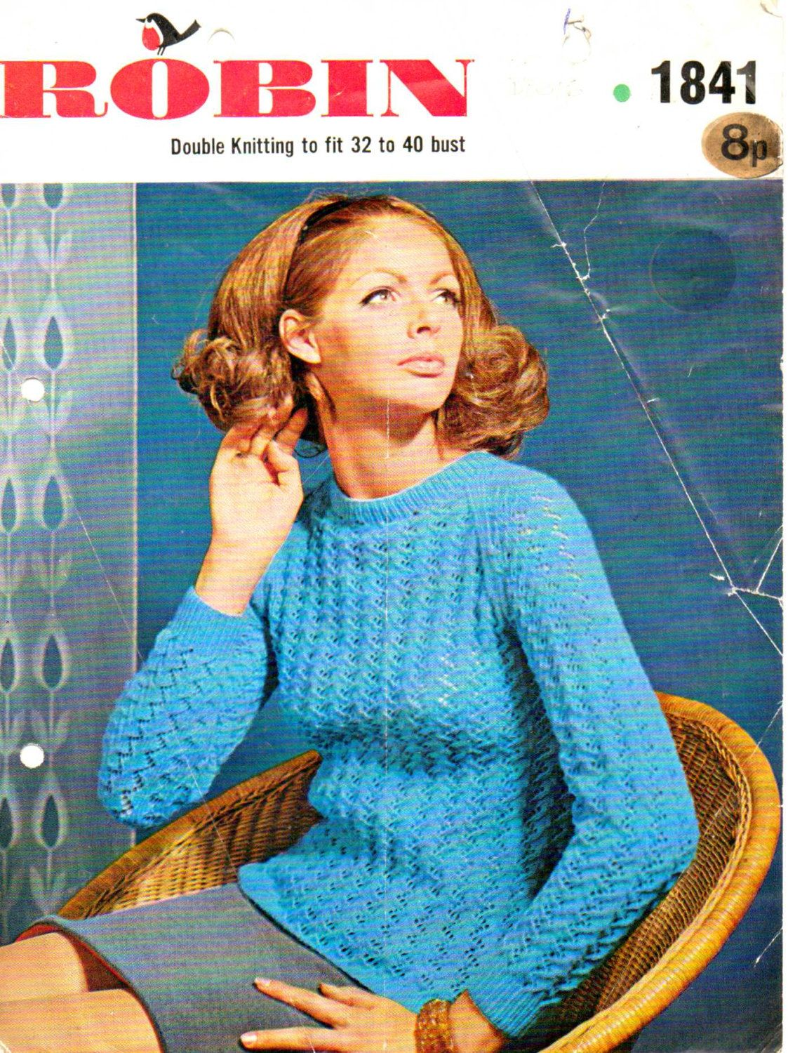 PDF Knitting Pattern by Robin. 1841 (32-40 bust). Casual Sweater ...